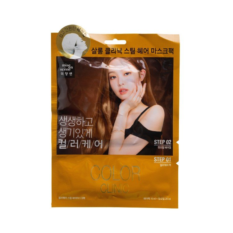 MISE EN SCENE - SALON CLINIC STEAM HAIR MASK-COLOUR CARE(RANDOM PACKAGE) - 15ML