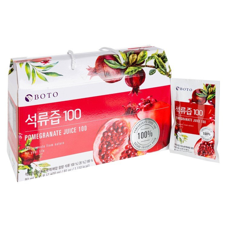 BOTO - 100%POMEGRANATE JUICE - 80MLX30