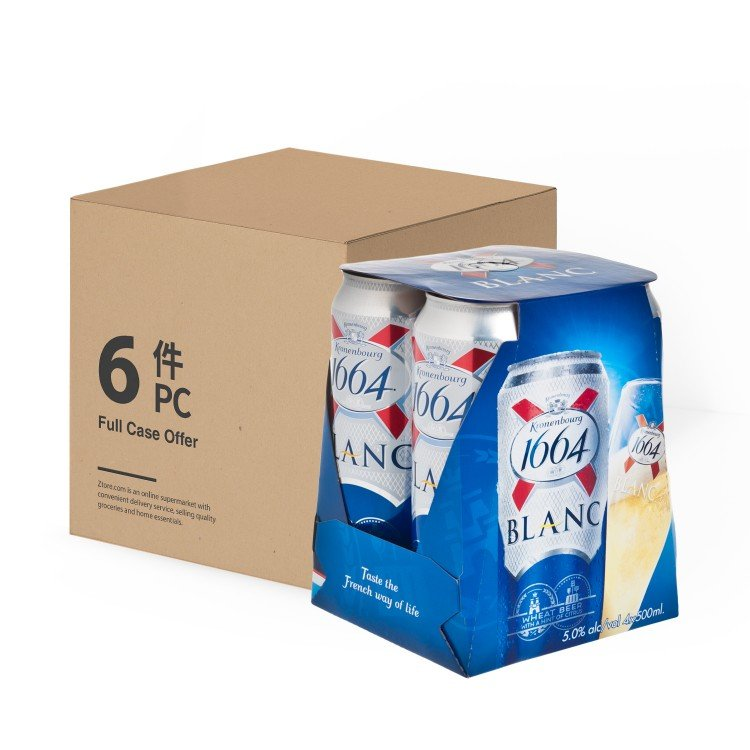 KRONENBOURG 1664 - BLANC BOT KING CAN-CASE OFFER - 500MLX4X6