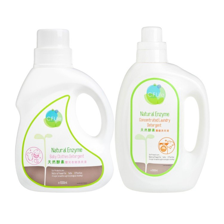 CF LIFE BY CHOI FUNG HONG - NATURAL ENZYME ADULT + BABY LAUNDRY DETERGENTS SET - SET