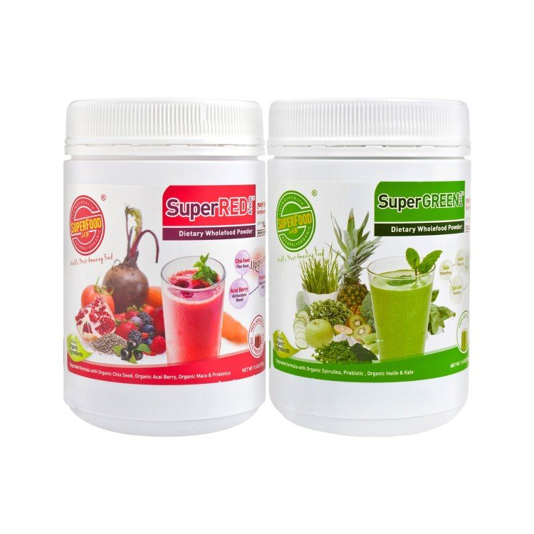 SUPERFOOD LAB - COMBO SET-SUPERRED+SUPERGREEN - 270G+270G