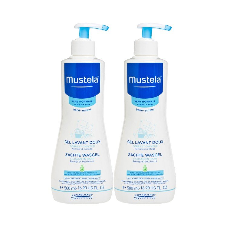 MUSTELA - GENTLE CLEANSING GEL BUNDLE - 500MLX2