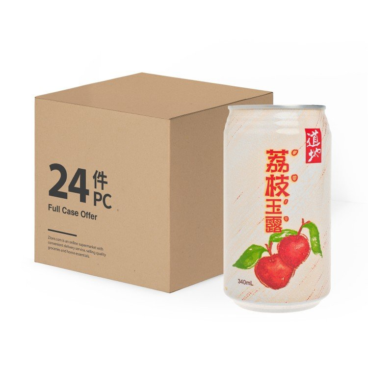 TAO TI - LYCHEE JUICE DRINK WITH NATA DE COCO - 340MLX24
