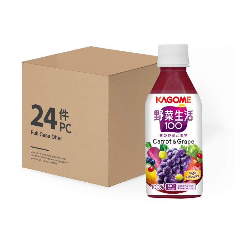 KAGOME - GRAPE MIXED JUICE -CASE - 280MLX24