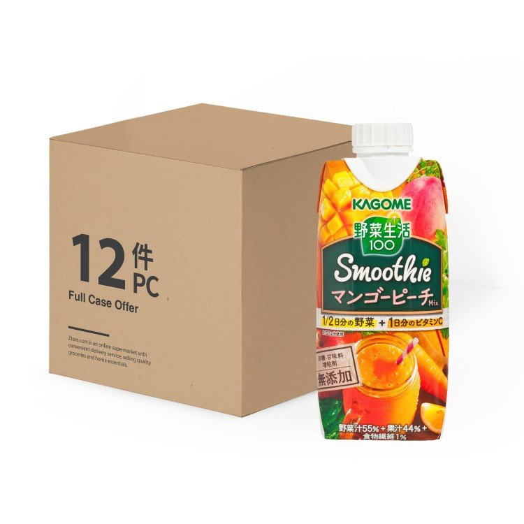 KAGOME - MANGO & PEACH MIXED SMOOTHIE -CASE - 330MLX12
