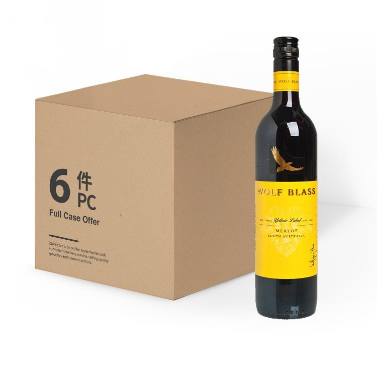 WOLF BLASS(PARALLEL IMPORT) - YELLOW LABEL MERLOT-CASE OFFER - 750MLX6