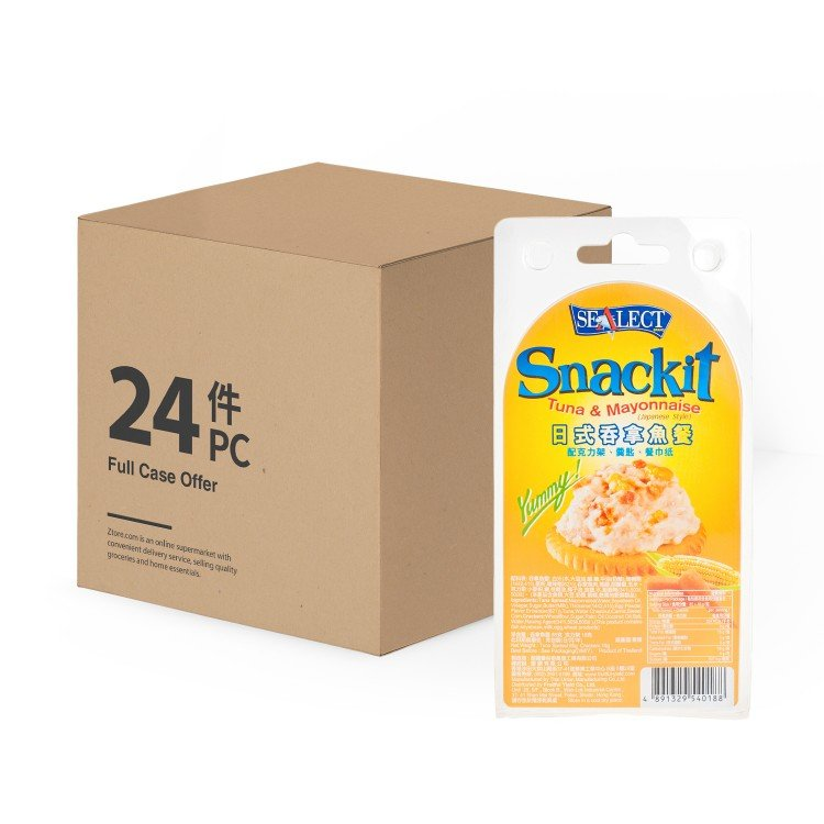 SEALECT - TUNA SNACKIT JAPANESE STYLE-CASE - 85G+18GX24