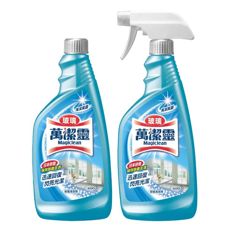 KAO MAGICLEAN - GLASS CLEANER TRIGGER WITH REFILL SET - 500MLX2