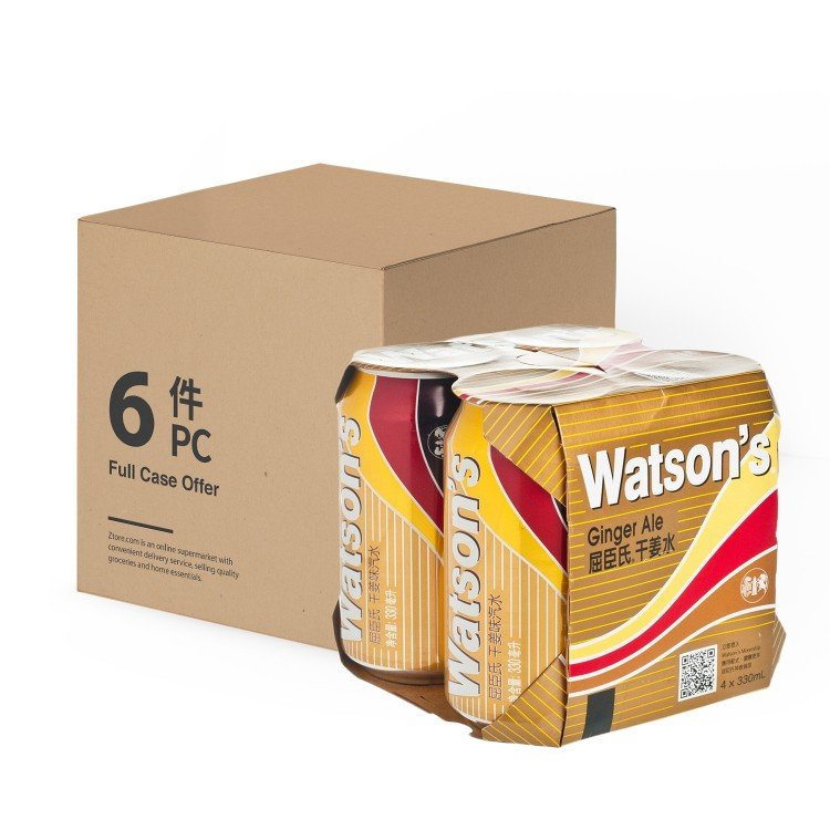 WATSONS - GINGER ALE-CASE - 330MLX4X6
