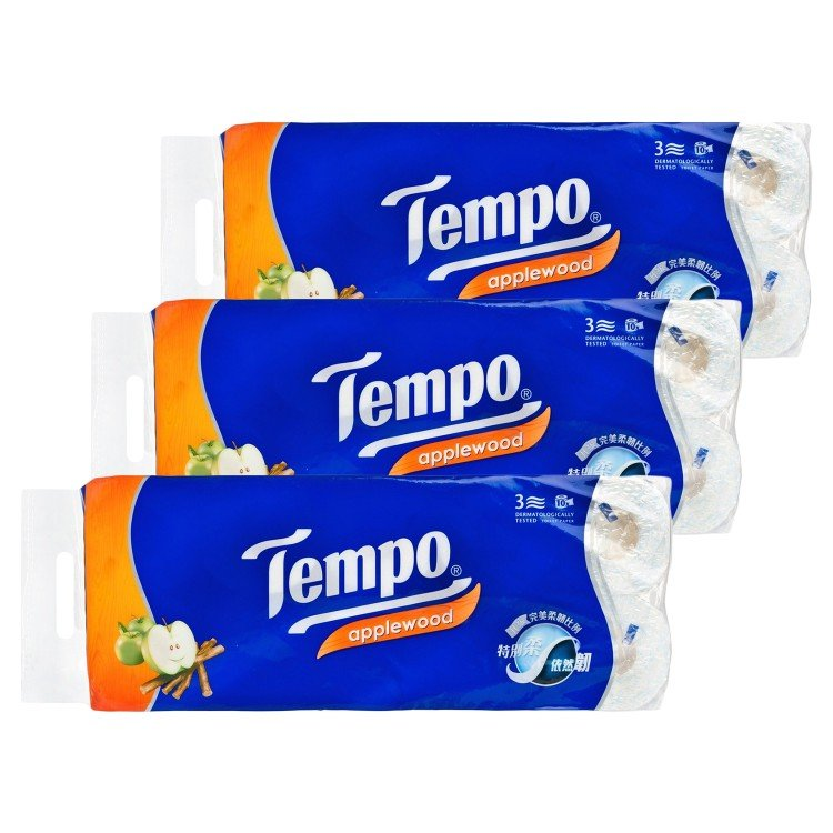 TEMPO得寶 - BATHROOM TISSUE 3 PLY-APPLEWOOD- 3PC - 10'SX3