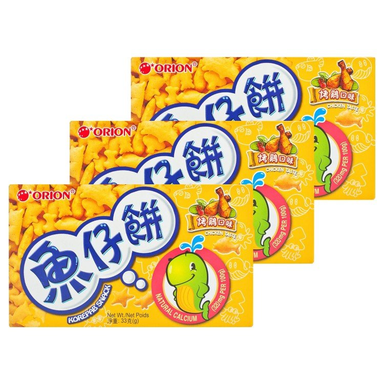 ORION - 魚仔餅-烤雞味 - 33GX3