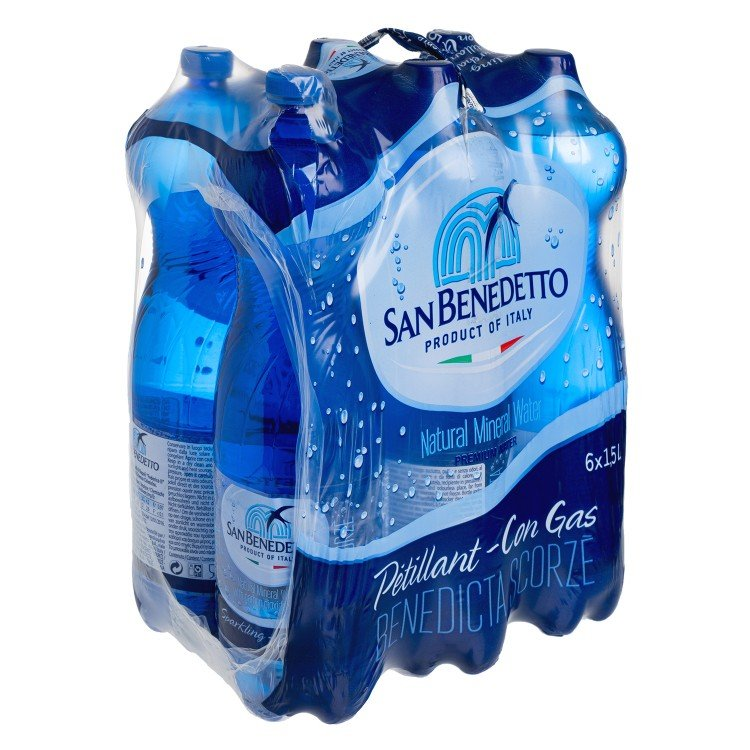 SAN BENEDETTO - SPARKLING MINERAL WATER - 1.5LX6