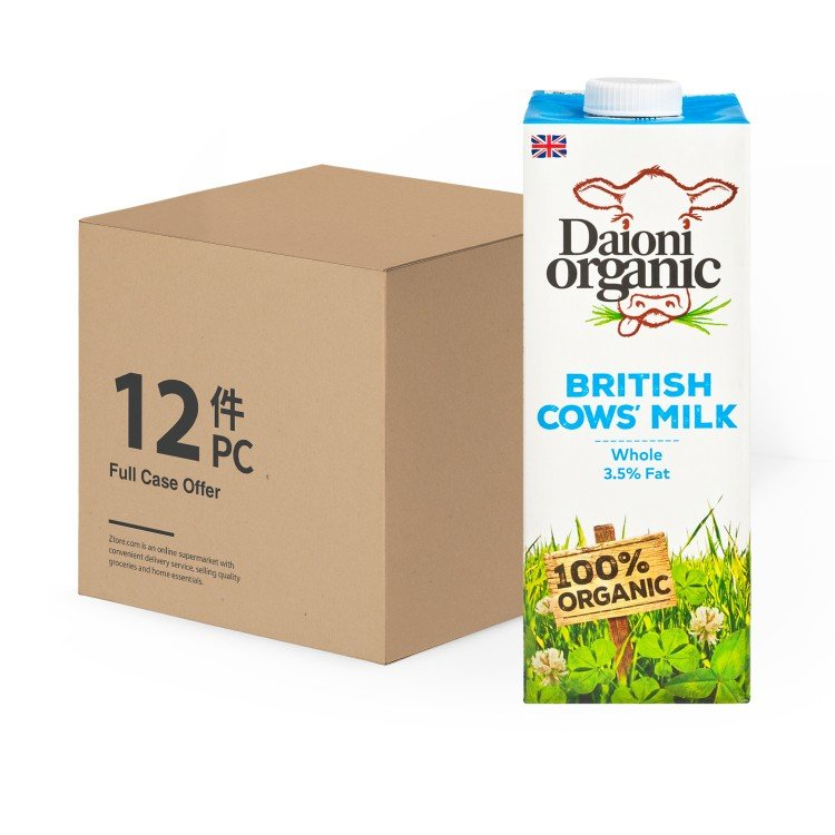 DAIONI ORGANIC - ORGANIC WHOLE MILK - 1LX12
