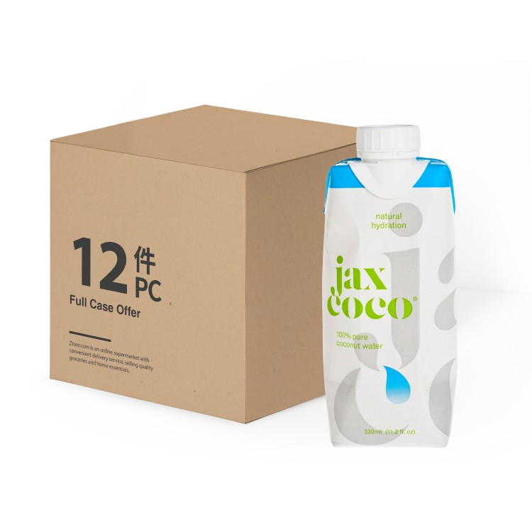JAX COCO - 100% PURE COCONUT WATER - 330MLX12