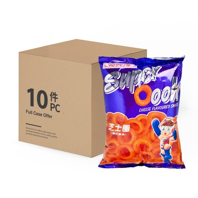 SZE HING LOONG - SUPER OOOH CHEESE FLAVOURED SNACK-CASE OFFER - 60GX10