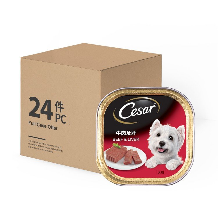CESAR - DOG CAN FOOD-BEEF & LIVER - 100GX24