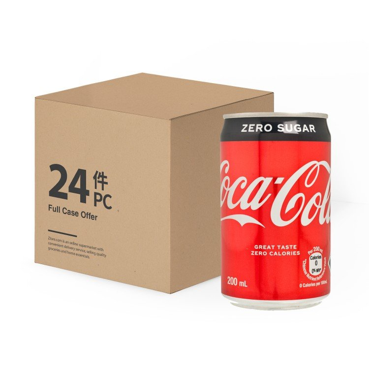 COCA-COLA - COKE ZERO-MINI CAN(CASE) - 200MLX24