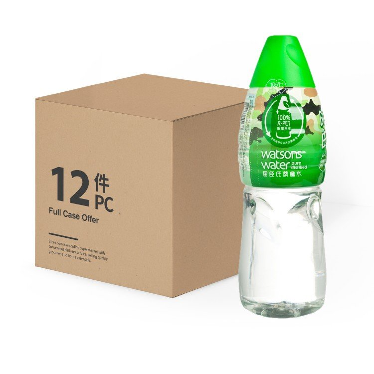WATSONS - PURE DISTILLED WATER - 1.8LX12