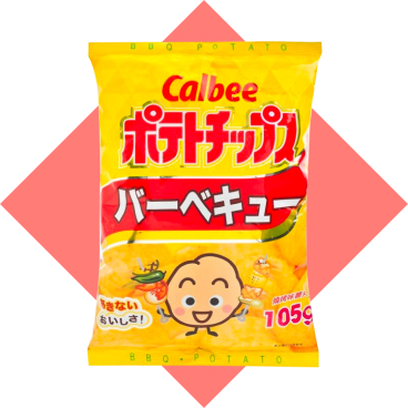 CALBEE - Potato Chips bbq Flavour - 105G
